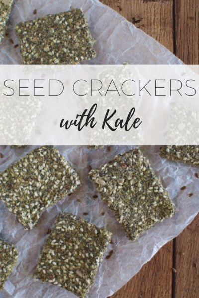 Seed crackers with kale - delicious and healthy!