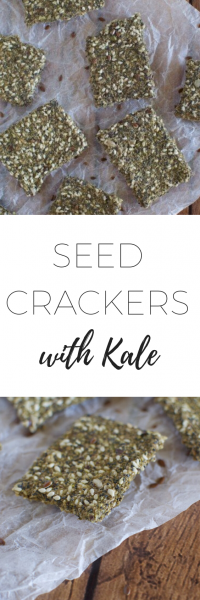 Seed crackers with kale via www.clairekcreations.com
