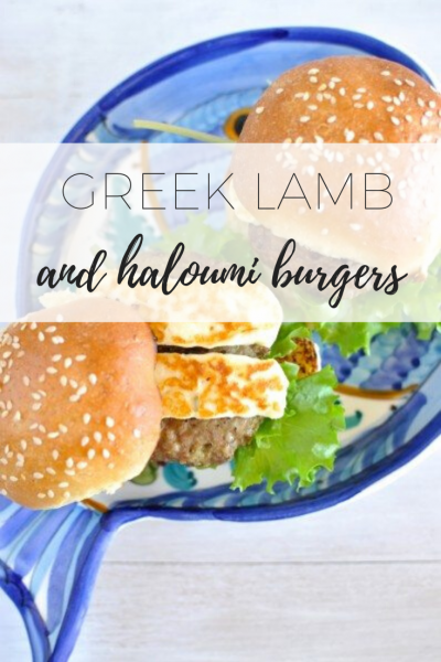 Greek lamb and haloumi burgers - light and delicious!