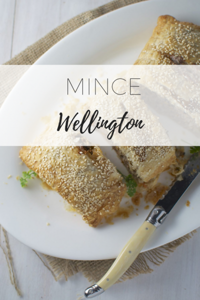 Mince wellington - delicious sausage roll.