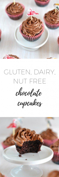 Gluten, dairy, nut free chocolate cupcakes - delicious and healthy.