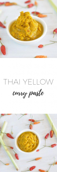 Thai yellow curry paste - better than store bought curry!