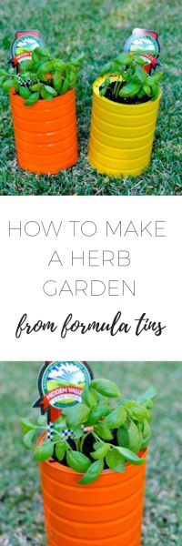 Find out how to make a herb garden from formula tins - easy, fun DIY project using materials that you can easily find at home.