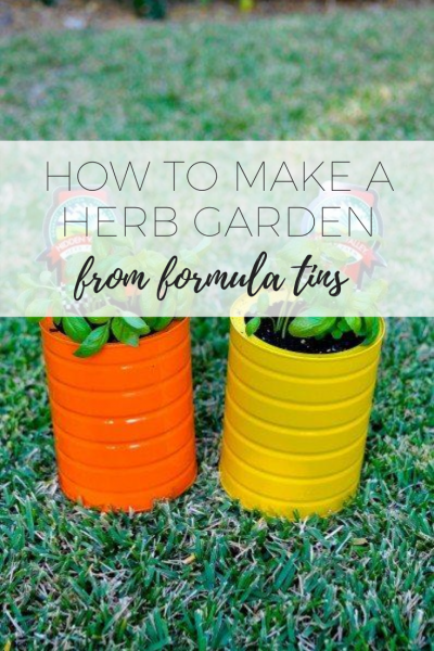 How to make a herb garden - easy DIY project.