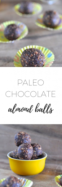 Paleo chocolate almond balls - easy and healthy snack.