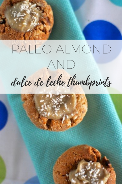 Paleo almond and dulce de leche - healthy and easy to make snack.