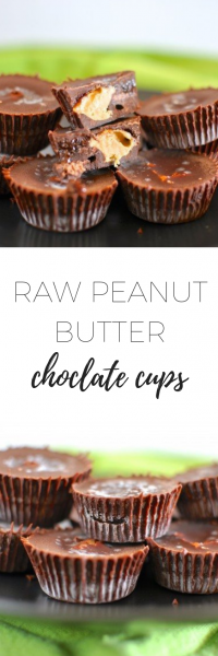 Raw peanut butter chocolate cups - delicious and easy to make!