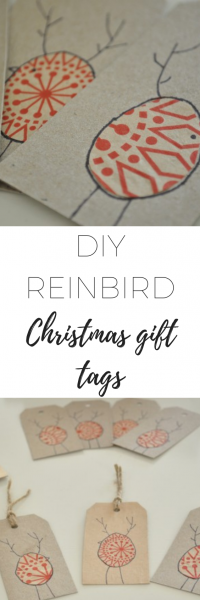 DIY Reinbird Christmas gift tags - lovely, easy to make tags!
