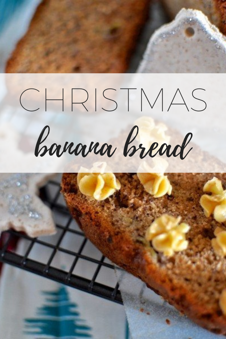 Christmas banana bread- perfect for Chirstmas morning breakfast.