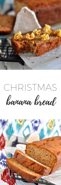 Christmas banana bread - perfect for Christmas morning breakfast.