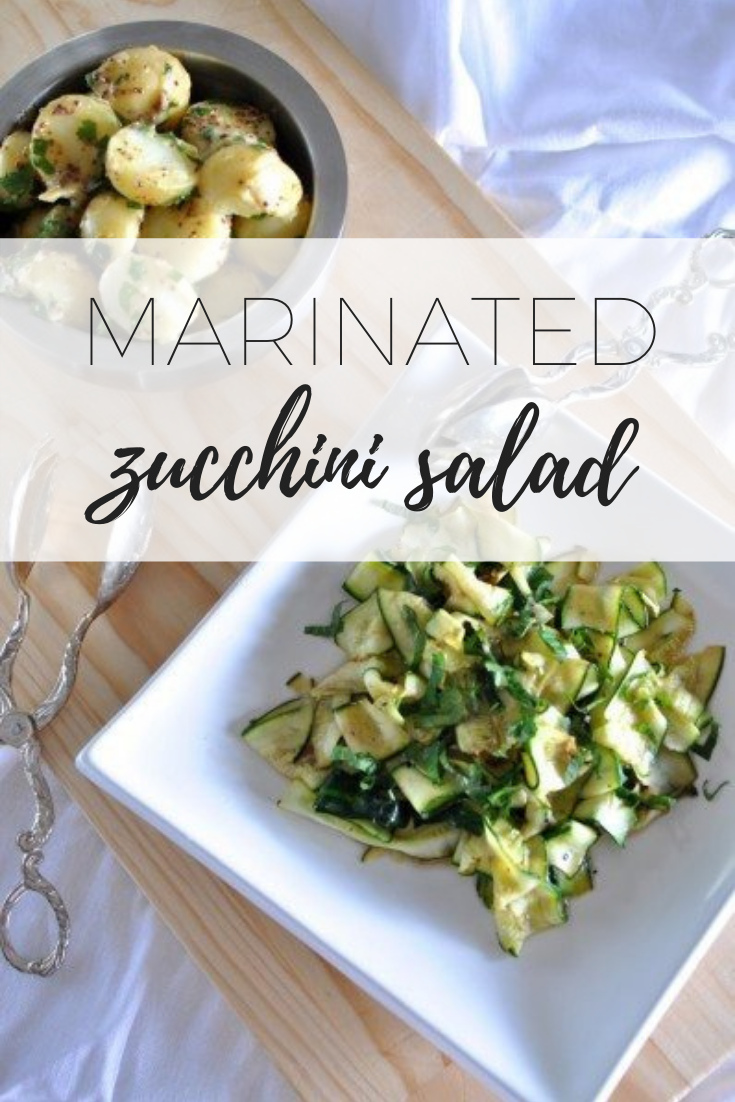 Marinated zucchini salad - refreshing and delicious.