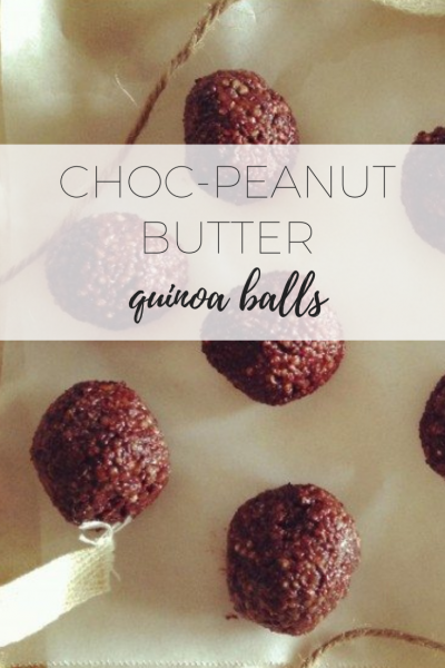 choc-peanut butter quinoa balls - delicious and healthy snack!c