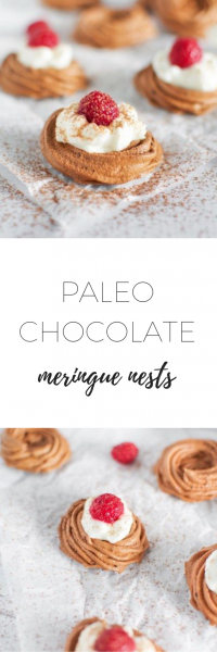 Paleo chocolate meringue nests