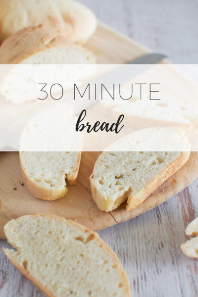 30 minute bread - quick and easy to make.