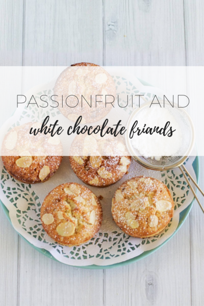 Passionfruit and white chocolate friands