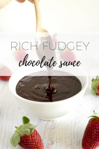 Rich fudgey chocolate sauce